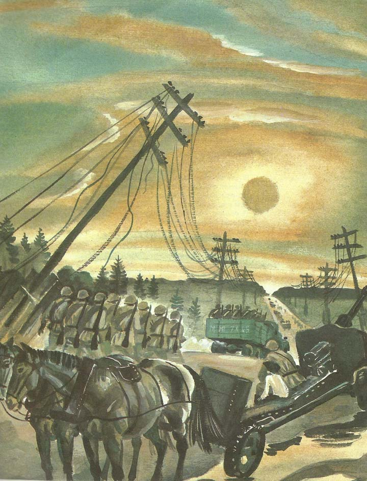 Рисунок дороги войны