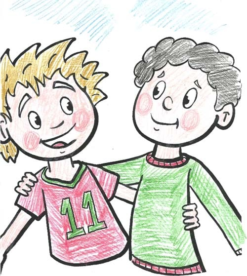 Иллюстрации к русским пословицам о дружбе